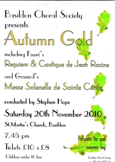 2010 November Autumn Gold - Poster