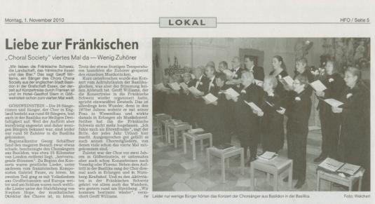 HFO Gößweinstein concert review