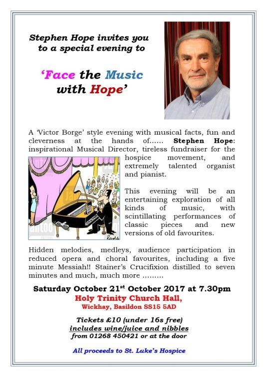 Face the music Nov 17