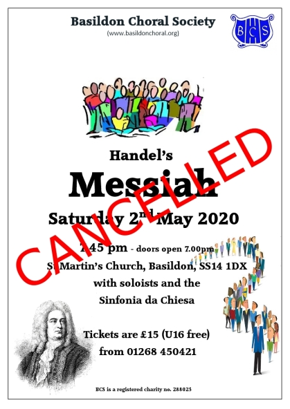 Messiah 2020 cancelled